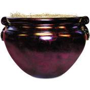 """Nu-Dell® Sparta Fiberglass Floor Pot for Artifical Trees, 16"""" Diameter, Mahogany"""
