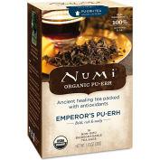 Numi Organic Tea Pu-Erh Tea, Emperor's Pu-Erh, Single Cup Bags, 0.125 Oz 16/Box