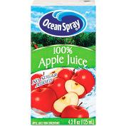Ocean Spray Aseptic Juice Boxes, 100% Apple, No Sugar Added, 4.2 Oz, 40/Carton
