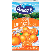 Ocean Spray Aseptic Juice Boxes, 100% Orange, No Sugar Added, 4.2 Oz, 40/Carton