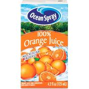 Ocean Spray Aseptic Juice Boxes, 100% Orange, No Sugar Added, 4.2 Oz, 40/Carton