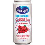 Ocean Spray Diet Sparkling Cranberry Juice, 12 Oz, From Concentrate, 10 Calories, 12/Carton