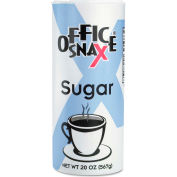 Office Snax® Reclosable Canister of Sugar, 20-oz, 24 per Carton