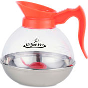 Coffee Pro Unbreakable Decaffeinated Coffee Decanter, 12-Cup, Stainless Steel/Polycarbonate