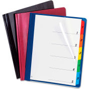Oxford® Extra-Wide Clear Front Report Covers, Letter Size, Black, 25/Box