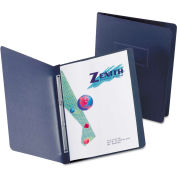 """Oxford® Paper Report Cover, Large 2 Prong Fastener, Letter, 3"""" Capacity, Dk Blue, 25/Box"""