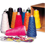 Pacon 590 Trait-Tex Double Weight Yarn Cones, 2 oz, Assorted Colors, 12/Box