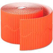 """Pacon 37106 Bordette Decorative Border, 2 1/4"""" x 50' Roll, Orange"""