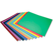 "Pacon® Four-Ply Railroad Board in Ten Assorted Colors, 28"" x 22"", 100/Carton"