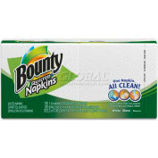"""Bounty® 23884, Quilted Napkins,  12-1/10""""Wx 12""""D, White, 100/Pack"""