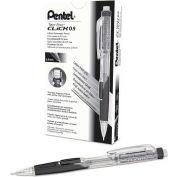 Pentel® Twist-Erase Click Mechanical Pencil, Refillable Lead/Eraser, 0.9mm, Black