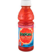 Tropicana 100% Juice, Ruby Red Grapefruit, 10 Oz, 24/Carton