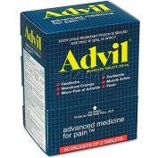 Advil® Ibuprofen Tablets, 2 Tablets/Pack, 50 Packs/Box