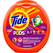 Tide Detergent Pods, Spring Meadow Scent, 72 Pods/Pack, 4 Packs/Case - PGC 50978