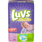 Luvs® Diapers with Leakguard For Newborns, 4 lbs to 10 lbs - 40/Pack, 4 Packs/Carton - 85921CT
