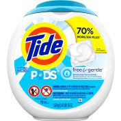 Tide Free & Gentle PODS ® Detergent Pacs, 72 Pods/Container, 4 Containers - 89892