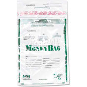 "PM Company SecurIT® Tamper-Evident Plastic Money Bags 58001 - 9""W x 12""H, Clear,  100/Pack"