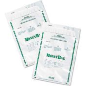 PM Company Securit 58020 Plastic Money Bags, Tamper Evident, 9 x 12, White, 50/Pack