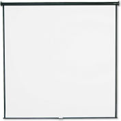 Quartet® Wall or Ceiling Projection Screen, 96 x 96, White Matte, Black Matte Casing