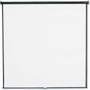 Quartet® Wall or Ceiling Projection Screen, 96 x 96, White Matte, Black Matte Casing