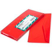 Quality Parkk™ Colored Envelope, Traditional, #10, Red, 25/Pack
