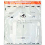 Quality Park 45241 Tamper-Evident Deposit Bags, 20 x 20, Clear, 50 per Pack