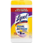 LYSOL® Dual Action Citrus Disinfecting Wipes, 75 Wipes/Can 6/Case - RAC81700CT