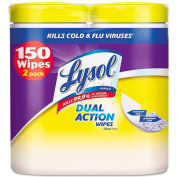 "Lysol Brand® Disinfecting Wipes, 7"" X 8"", Citrus, 2 Cans/Pack - RAC84922"
