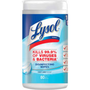 "LYSOL® Disinfecting Wipes, Crisp Linen, 7"" x 8"", 80 Wipes/Can, 6 Cans/Case - 89346"