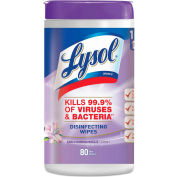 "LYSOL® Disinfecting Wipes, Early Morning Breeze, 7"" x 8"", 80 Wipes/Can, 6 Cans/Case - 89347"
