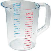 Rubbermaid® Commercial Bouncer Measuring Cup, 2 Qt., Clear Polycarbonate