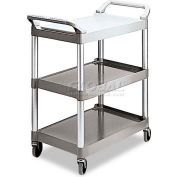 Rubbermaid® 3424-88 Three-Shelf Platinum Utility Cart