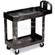 "Rubbermaid® 4500-88 Tray Shelf Plastic Service Cart 2 Shelves 5"" Casters"