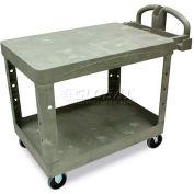 Rubbermaid® 4525 Beige HD Flat Shelf Utility Cart 44 x 25