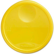 "Rubbermaid® Commercial Round Storage Container Lids, 13 1/2"" Dia. x 2 3/4""H, Yellow"