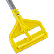 """Rubbermaid® 54"""" Invader Side Gate Wood Mop Handle, Yellow - FGH145000000"""