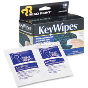 Read Right® KeyWipes Keyboard & Hand Cleaner Wet Wipes, 18/Box - REARR1233