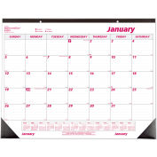 Brownline® Desk Pad Calendar, Chipboard, 22 x 17, 2019