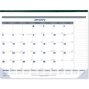 Blueline® Net Zero Carbon Desk Pad Calendar, 22 x 17, Black Band and Corners, 2019