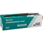 "Reynolds Wrap® Metro Light-Duty PVC Film Roll w/Cutter Box, 18"" x 2000 Ft., Clear"
