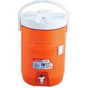 "Rubbermaid FG16830111 - Beverage Cooler, 3 Gallons, 12-1/2"" Dia. x 16-3/4""H, Orange"