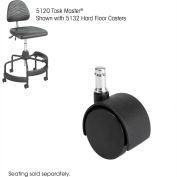 Safco® SAF5132 TaskMaster Hard Floor Casters,Black,5/Set