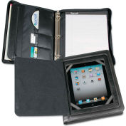 Samsill® Carrying Case, 15600, For iPad/Tablet, Zipper Binder W/Flap, Vinyl, Black