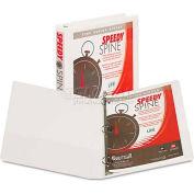"Samsill® Speedy Spine Round Ring View Binder, 11 x 8-1/2, 1"" Capacity, White"