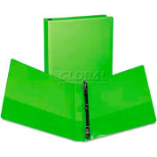"Samsill® Presentation View Binder, Round Ring, 11 x 8-1/2, 1"" Capacity, Lime, 2/Pack"