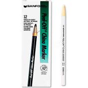 Sharpie 2060 Peel-Off China Markers, White, Dozen