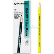 Sharpie 2083 Peel-Off China Markers, Yellow, Dozen