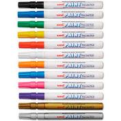Sanford® uni-Paint Markers, Fine Point, Assorted, 12/Set