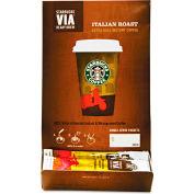 Starbucks® Italian Roast Via Ready Brew Coffee, Regular, Arabica Beans, 0.12 oz., 50/Box