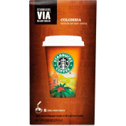 Starbucks® Colombia Via Ready Brew Coffee, Regular, Arabica Beans, 0.12 oz., 8/Box